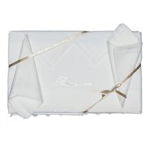 Комплект скатерть и 12 салфеток  Цвет:белый Артикул:1001845 1