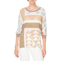 Блуза трикотажная женская ROSANNA PELLEGRINI Цвет:бежевый Артикул:0574512 1