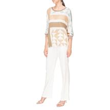 Блуза трикотажная женская ROSANNA PELLEGRINI Цвет:бежевый Артикул:0574512 2