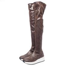 Ботфорты женские  Цвет:коричневый Артикул:0261542 1
