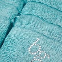 Комплект полотенец 2 предмета  Цвет:бирюзовый Артикул:1062034 2