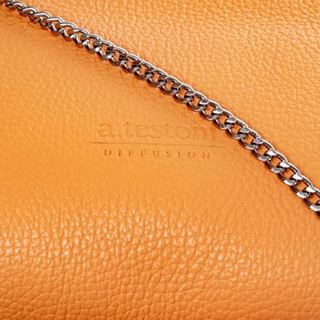 Клатч женский A.TESTONI Цвет:оранжевый Артикул:0166087 5
