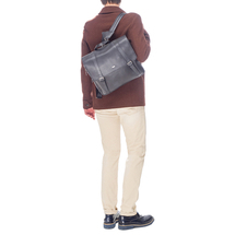 Сумка-рюкзак мужская  Цвет:серый Артикул:0165674 2