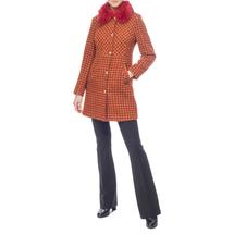 Пальто женское  Цвет:оранжевый Артикул:0661198 2