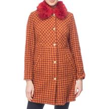 Пальто женское  Цвет:оранжевый Артикул:0661198 1