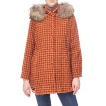 Пальто женское  Цвет:оранжевый Артикул:0661201 1