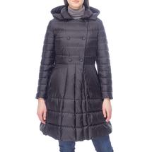 Пальто пуховое женское  Цвет:черный Артикул:0661114 1