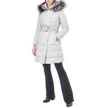 Пальто пуховое женское  Цвет:серый Артикул:0661116 2