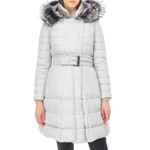 Пальто пуховое женское  Цвет:серый Артикул:0661116 1