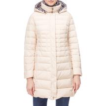 Пальто пуховое женское  Цвет:бежевый Артикул:0661254 1