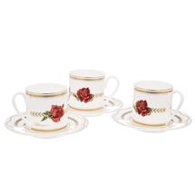 Набор кофейный 6 предметов  Цвет:красный Артикул:1700845 1