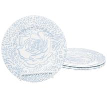 Набор тарелок 4 предмета  Цвет:голубой Артикул:1700815 1