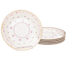 Набор тарелок 6 предметов  Цвет:розовый Артикул:1700737 1