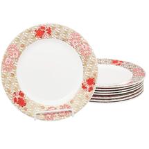 Набор тарелок 8 предметов  Цвет:красный Артикул:1700842 1