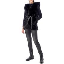 Жилет верхний из искусственного меха женский  Цвет:черный Артикул:0577213 2