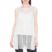Комплект жилет/топ женский  Цвет:белый Артикул:0578166 1
