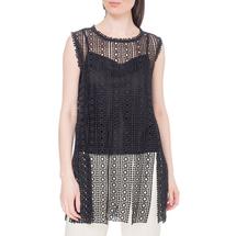 Комплект жилет/топ женский  Цвет:черный Артикул:0578166 1