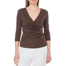 Блузка трикотажная женская CLIPS TRICOT Цвет:коричневый Артикул:0578957 1