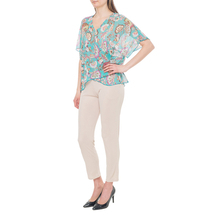 Блуза женская  Цвет:бирюзовый Артикул:0579290 2