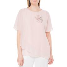 Блуза/брошь женская  Цвет:розовый Артикул:0574474 1