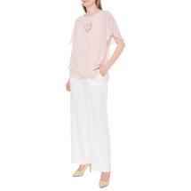 Блуза/брошь женская  Цвет:розовый Артикул:0574474 2