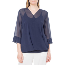 Комплект блуза/топ женский  Цвет:синий Артикул:0579283 1