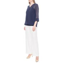 Комплект блуза/топ женский  Цвет:синий Артикул:0579283 2