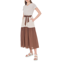Платье/пояс женское  Цвет:бежевый Артикул:0579059 2