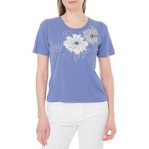 Футболка женская  Цвет:голубой Артикул:0579231 1