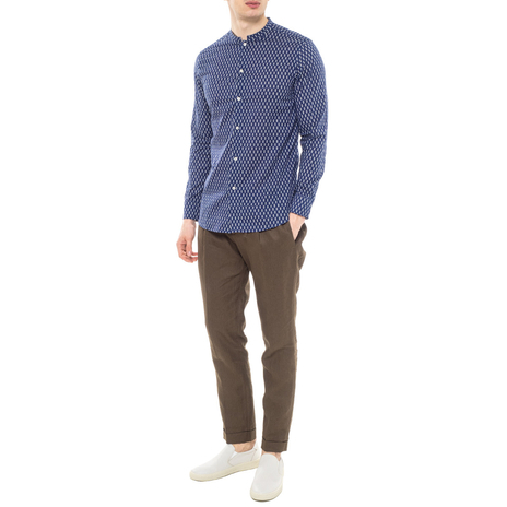 Рубашка мужская PAOLO PECORA Цвет:синий Артикул:0977992 2