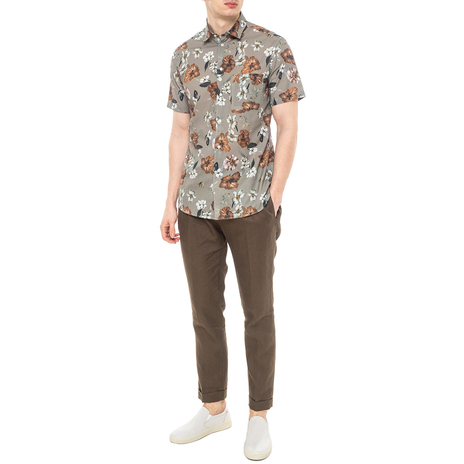 Рубашка мужская PAOLO PECORA Цвет:хаки Артикул:0977995 2