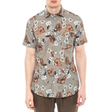 Рубашка мужская PAOLO PECORA Цвет:хаки Артикул:0977995 1