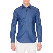 Рубашка мужская  Цвет:синий Артикул:0978078 1