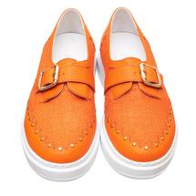 Слипоны женские  Цвет:оранжевый Артикул:0262059 2