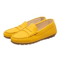 Мокасины женские  Цвет:желтый Артикул:0262112 1