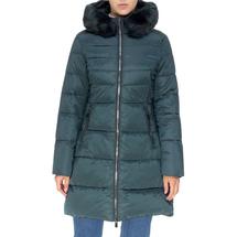 Пальто женское  Цвет:зеленый Артикул:0661385 1