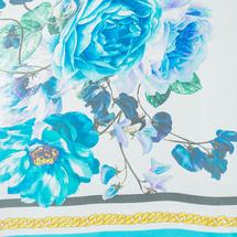 Палантин женский  Цвет:голубой Артикул:0167993 2