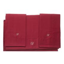 Комплект постельного белья 4 предмета  Цвет:бордовый Артикул:1062320 1