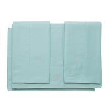 Комплект постельного белья 4 предмета  Цвет:бирюзовый Артикул:1062323 1