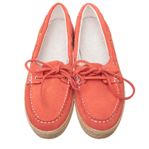 Топсайдеры женские  Цвет:оранжевый Артикул:0262344 2