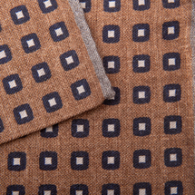 Платок декоративный мужской  Цвет:коричневый Артикул:0168019 2